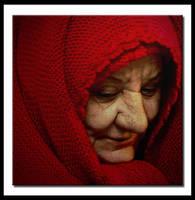 old lady in red by Olga-Zervou