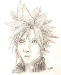 FFVII:AC Cloud Sketch by Momorii