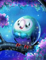Shiny Rowlet by Animechristy