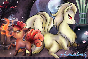 Vulpix and Ninetales by Animechristy
