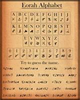 Eorah Alphabet by Hiorou
