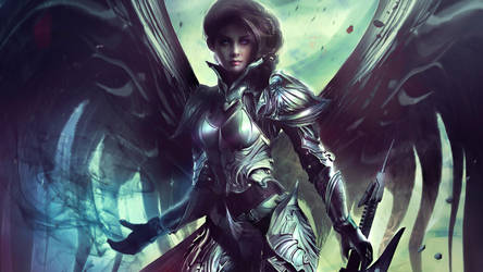 ARCHON: Archangel Vesudah Wallpaper by JLarenART