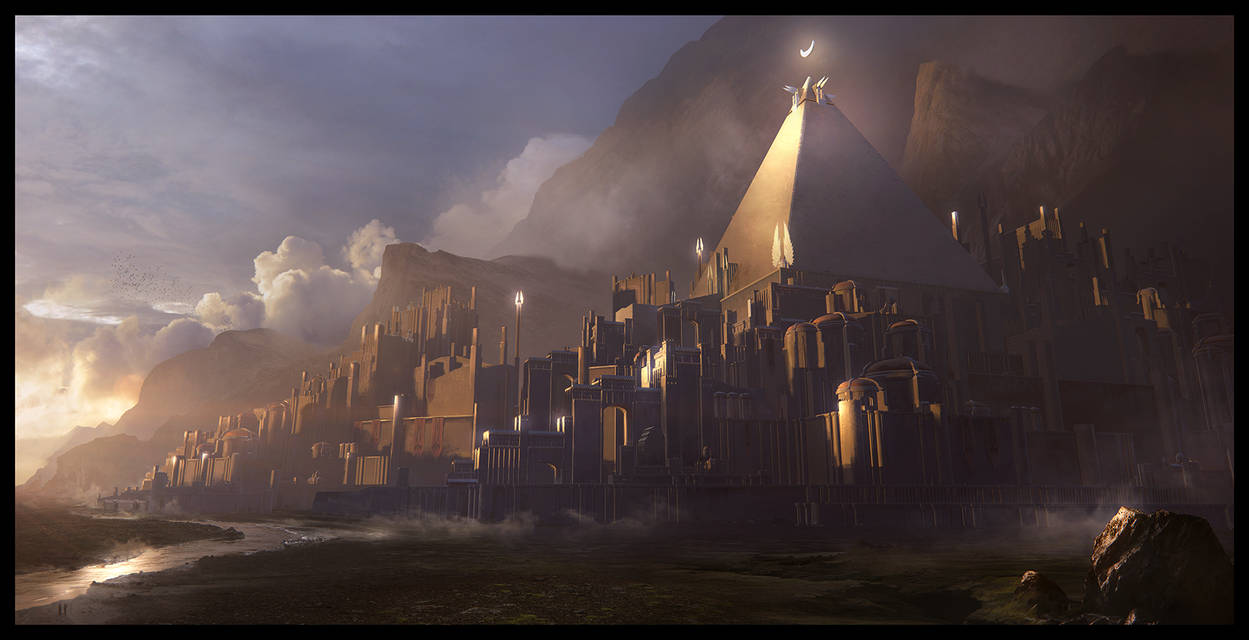 ARCHON: Lithe - Fortress of the Seraphim by JLarenART
