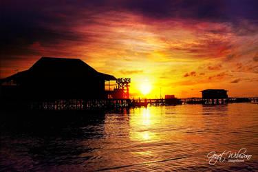 sunset derawan by gegetlonely
