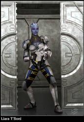 Liara T'Soni (Mass Effect) by Barwickian