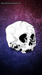 Skull for iPhone 5 by VampirGoth