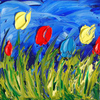 6 tulips by davepuls