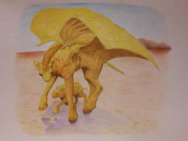 Desert Dragons by moryonenn