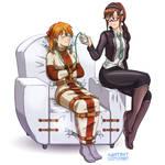 Asuka and Mari by Knotbot