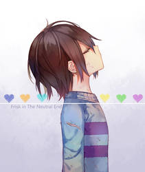 Frisk in The Neutral End by Tsurineko