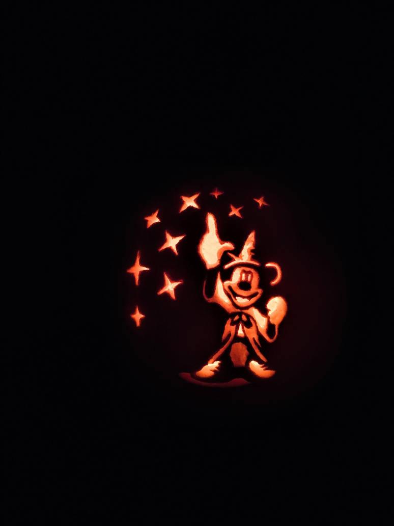 Sorcerers Apprentice Mickey Pumpkin Carving By Leopardtoes