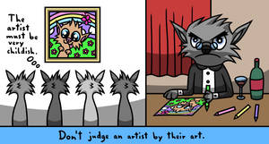 Don't judge an artist by their art by AnimaruLunaris