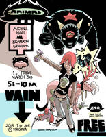 Animal flier March 3rd Seattle by royalboiler