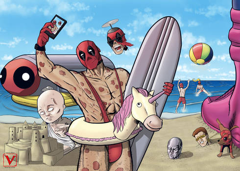 deadpool corps in V for vacation- color by laurus-the-outsider