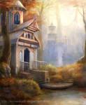 Elven Town by SnowSkadi