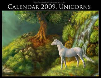 Unicorn Calendar 2009 by SnowSkadi