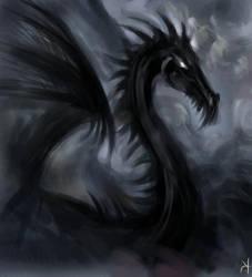 black dragon by SnowSkadi