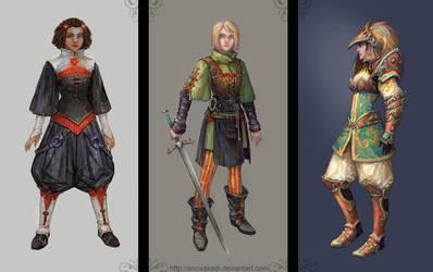 Concepts: Girls by SnowSkadi