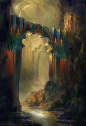Rocks Of Light by SnowSkadi