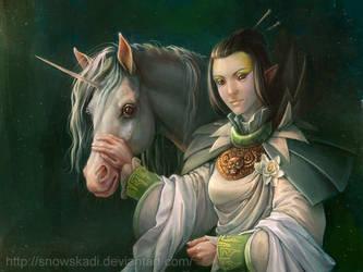 White unicorn. by SnowSkadi