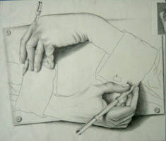Escher Hands by eskimo30787