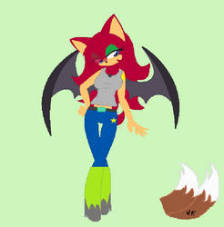 Yuna The Bat Redesigned by victoriame
