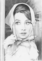 Audrey Hepburn by BilquisEvely