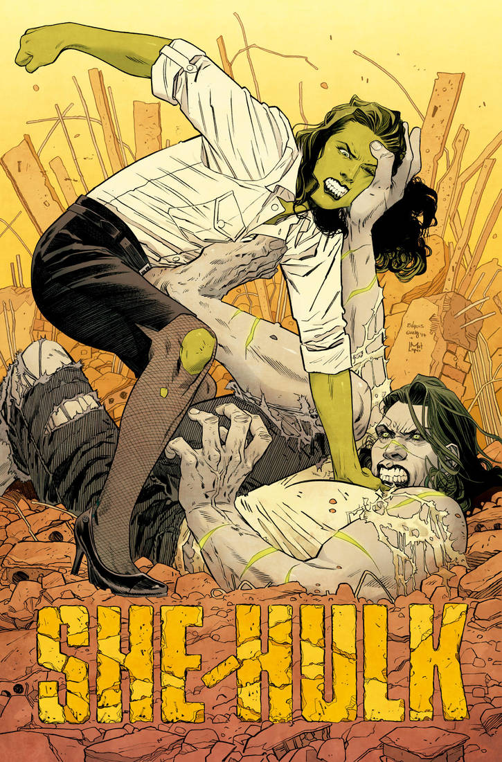 She-Hulk Cover by BilquisEvely