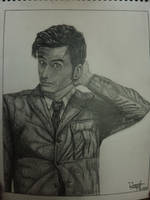 Doctor Who Drawing by MarieTaylor
