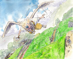 Tengu-flies-over by NORIMATSUKeiichi