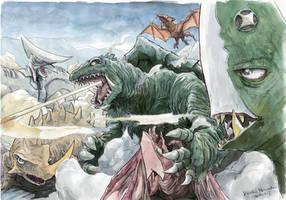 Gamera-fights by NORIMATSUKeiichi