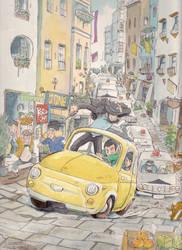 Fiat500-Lupin by NORIMATSUKeiichi