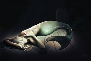 Dying mermaid by YuKo27