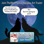 TheWolfPack Group's Holiday Art Trade by The-Wolf-Pack