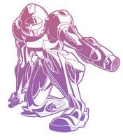 Samus Aran from Metroid by normgrock
