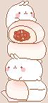 (F2U) Molang Sweet Bean Buns by peachkonpeito