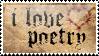 i love poetry stamp by peterdawes