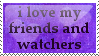 Love Friends Stamp by peterdawes