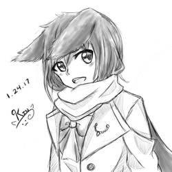 Rabbit girl sketch by KinSendou
