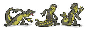 21 Draw - Croc Poses by secoh2000