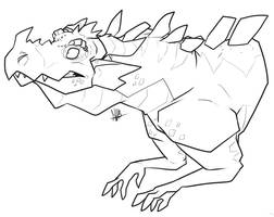 Apprehensive Dragon by secoh2000