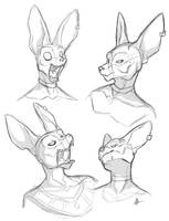 Many Faces of Beerus by secoh2000
