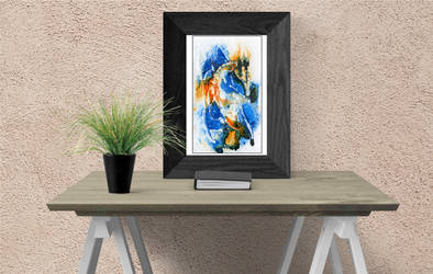 Blue and orange abstract by rev-Jesse-C