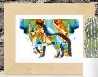 Horse abstract by rev-Jesse-C