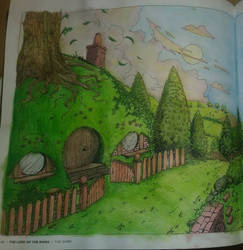the Shire coloring page close up part 1 by Chaotic-Kenaz