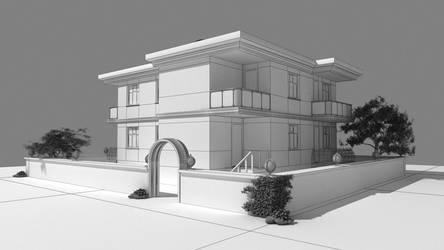 3ds Max - Villa Modeling by gorselefektanimasyon