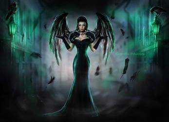 Wings of the dark Raven by Ameliethe