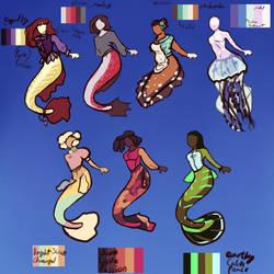 Mermaid designs by Carnival-Squash