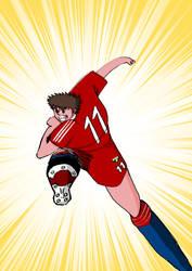 Captain Tsubasa Sketch 2 by scott1986