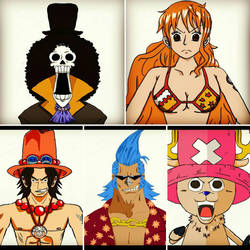 2nd collage of One Piece by scott1986